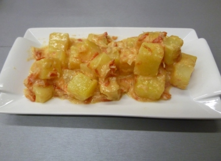 patatas en baño criollo