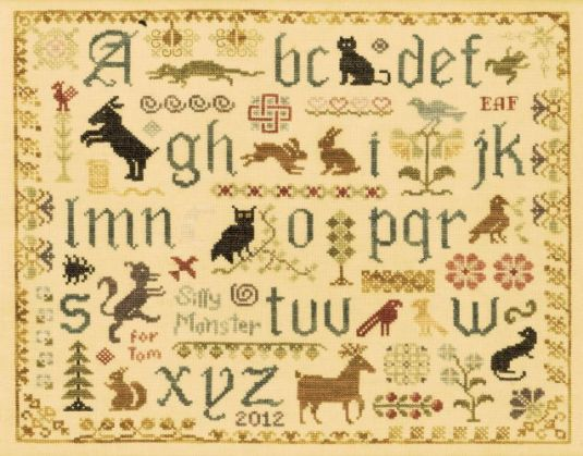 Antique-Animal-Sampler