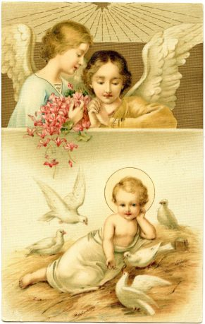 Baby-Jesus-Angels-Vintage-image-GraphicsFairy-648x1024